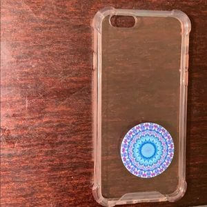 Other - iPhone 6/6s clear case & popsocket